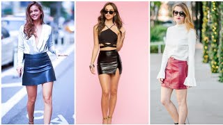 Top Classy And Fascinating Leather Latex Short/mini Skirts #howtowear