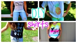 DIY Shirts ♡ Brandy Melville And Fresh Tops Inspired!