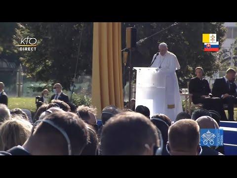 Rencontre du pape François avec les autorités et la société civile slovaques