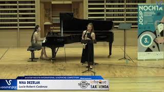 Nika Dezelak plays Cadenza by Lucie Robert