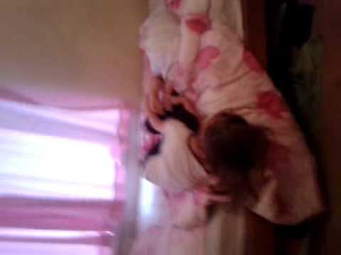 My bro tickling my sister