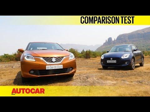 New Maruti Swift vs Maruti Baleno | Comparison Test | Autocar India