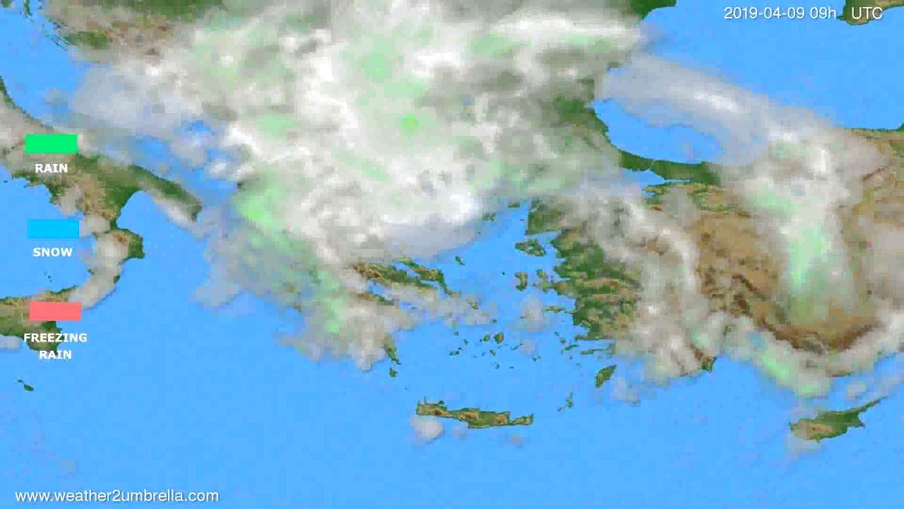 Precipitation forecast Greece // modelrun: 12h UTC 2019-04-07