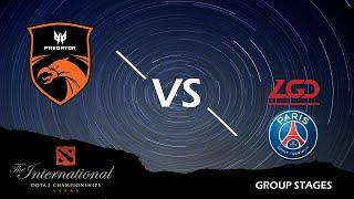 🔴 [EN] Dota 2 Live | TNC vs PSG LGD | TI9 Group Stages BO2 Game 02