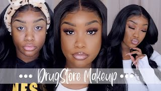 FULL FACE OF FLAWLESS  DRUGSTORE MAKEUP | AFFORDABLE | BEGINNER FRIENDLY | WOC
