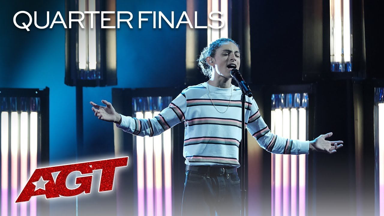 "Shy Teen Singer Benicio Bryant Performs AMAZING Original, ""Who I Am"" - America's Got Talent 2019 thumbnail"