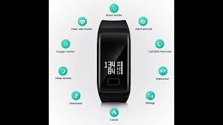 """Фитнес-браслет SmartBand F1 (синий) от компании """"Магазин Все, Что Нужно"""" - видео"""