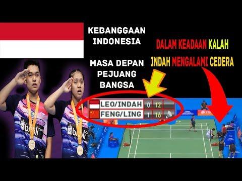Keadaan KALAH & CEDERA Leo Rolly/ Indah Cahya Juara Dunia dan Asia Junior Championship