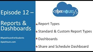 Ep 12 – Reports & Dashboards | Custom Report Types | Share and Schedule