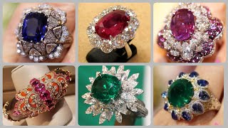 Sparkling And Stunning Gemstone Rings Designs Ruby Sapphire Amethyst And Emerald Rings Ideas
