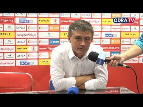 Konferencja prasowa po meczu Odra Opole - Stomil Olsztyn 0:1