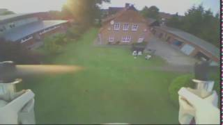 Going fast with my Hubsan X4 107D FX797T FPV CAM + CRASH at the end