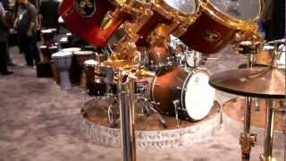 Taylor Hawkins of Foo Fighters Gretsch Drum Set at NAMM 2013