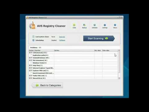 AVS Registry Cleaner tutorial