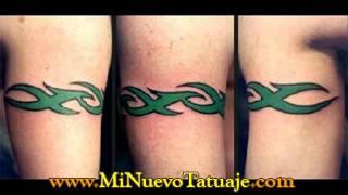 Tatuajes Tribales en el hombro y brazo