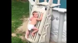 Dad's Viral Video Of Toddler Climbing Pool Ladder Is A Warning To Parents