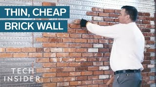 Thin Brick Wall Is Cheaper And Quicker To Install Than The Real Thing