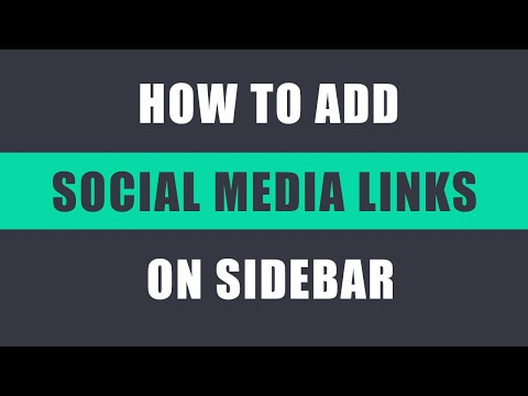 How to add social media links on the sidebar in WordPress?