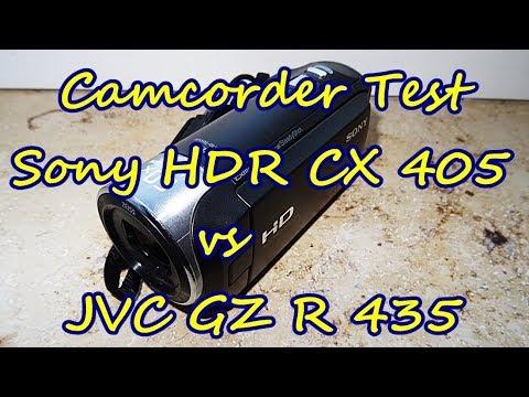Camcorder Test - JVC GZ R 435 vs Sony HDR CX 405 - Vergleich Aufnahmen bei schwachem Tageslicht