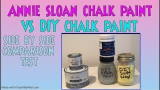 Annie Sloan Vs DIY Chalk Paint Side By Side Comparison Test *Annie Sloan Or Homemade Chalkpaint?