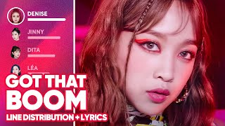 SECRET NUMBER - Got That Boom (Line Distribution + Lyrics Color Coded) PATREON REQUESTED