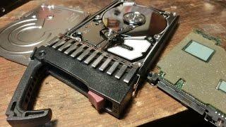 HP 300GB SAS Plug-N-Play Server Hard Drive Teardown