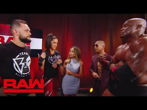 Bobby Lashley and Lio Rush interrupt Finn Bálor and Bayley's interview: Raw, Oct. 8, 2018