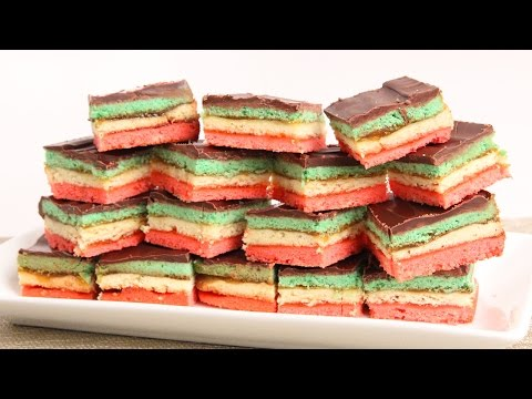 Italian Rainbow Cookies Recipe – Laura Vitale – Laura in the Kitchen Episode 882