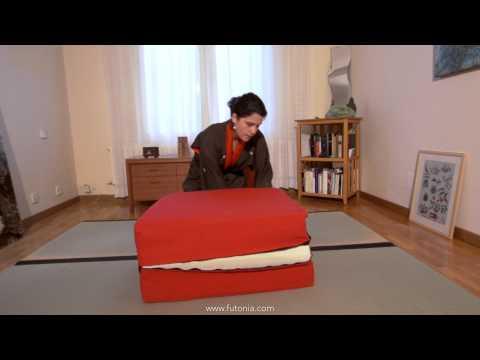 Cómo ahorrar espacio en casa. El Puff Convertible o cama supletoria. Futonia.