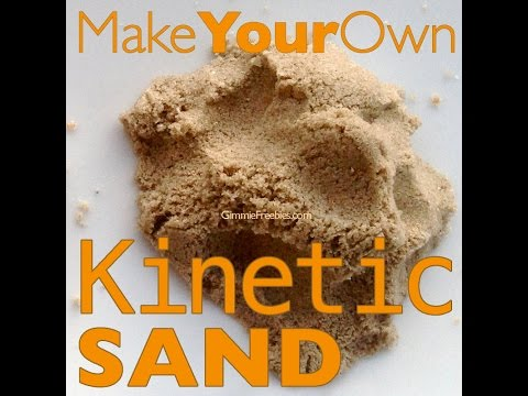 Make Your Own Kinetic Sand (10 lbs for 50 cents!) Homemade Moon Sand