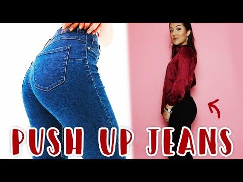 Ik probeer de push up jeans uit