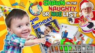 SHAWN's 2nd BIRTHDAY! On Santa's Naughty List The Terrible 2's R Here FUNnel Vision Birthday Vl