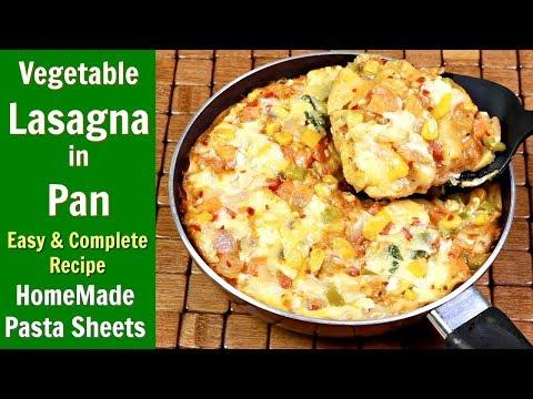 इटालियन लसानिया घर पर बनाने का सबसे आसान तरीका   Vegetable Lasagna Recipe   KabitasKitchen