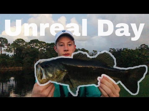 CATCHING GIANT BASS IN FLORIDA! GOLF COURSE PONDS
