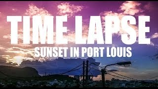 preview picture of video 'Time Lapse w/ Nokia Lumia 620: Sunset in Port Louis - Mauritius #12'
