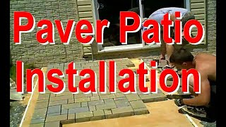Paver Patio Installation - Fast motion - Video Youtube