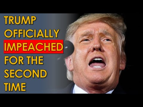 Trump IMPEACHED TWICE; 10 Republicans Voted to Impeach HISTORIC LOSER