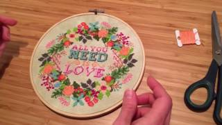 FlossTube Tiny Modernist Tutorial: Finish Your Needlework In An Embroidery Hoop
