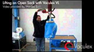 Lifting an Open Sack with Vaculex VL