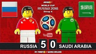 Russia vs Saudi Arabia 5-0 • World Cup 2018 (14/06/2018) All Goals Highlights Lego Football