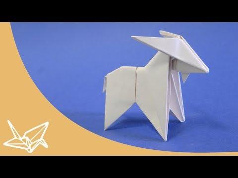 Origami Ziege - Faltanleitung [Peterpaul Forcher]
