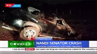 Nandi senator, Samson Cherargei sustains minor injuries after he got involved in an accident