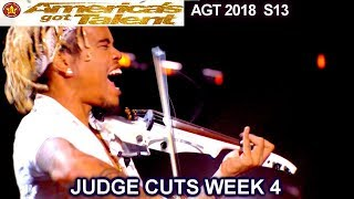 "Brian King Joseph  Violinist ""Something Just Like This"" America's Got Talent 2018 Judge Cuts 4 AGT"