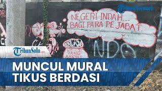 Muncul Mural di Tembok Rel Kereta Api di Klaten, Ada Gambar Tikus Berdasi & Tulisan 'Uang Rakyat'