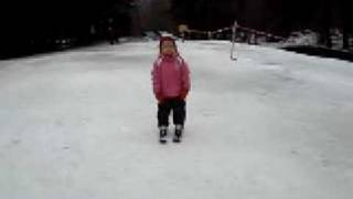 preview picture of video 'Paula on ski in Prum 2009'