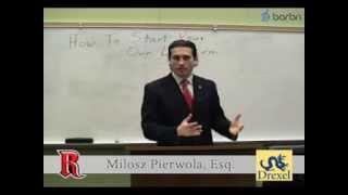 How To Start Your Own Law Firm - Milosz Pierwola, Esq.