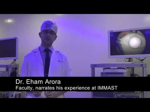 Faculty, narrates his experience at IMMAST