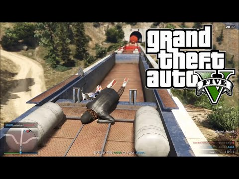 GTA 5 Online | SURPRISE, It's A Invisible Train... Epic Fail [Funny Moments]