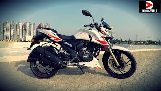 RTR 200 Race Edition 2.0 ABS Review Braking Test White N Red Color #Bikes@Dinos