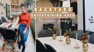 Backyard Entertaining Area For Mama Shocks' New Home!
